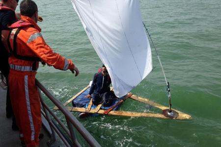 Afghan man on homemade raft rescued