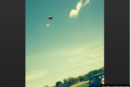Bouncy castle flies off with 3 children in it