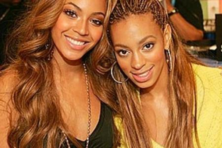 Sisterly love: Beyonce posts photos of her and Solange in happier times
