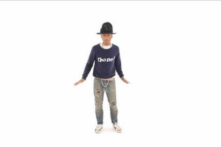 Pharrell is still Happy, this time in Japan.