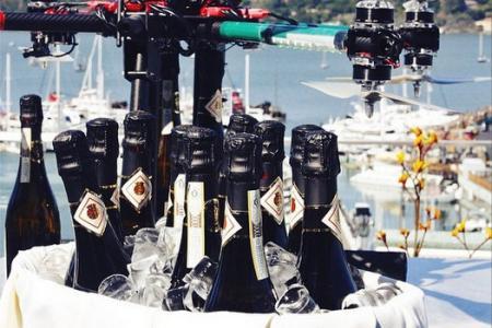 Drone champagne delivery service for super rich