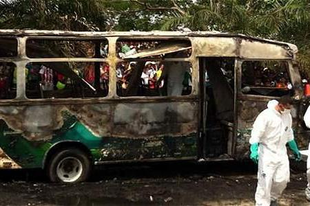 26 children killed in Colombian bus fire