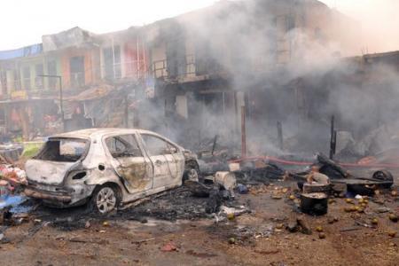 Car bombings bring down buildings in Nigeria