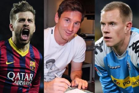 Barcelona pen deals for Messi and Pique, sign ter Stegen