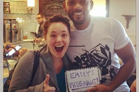 Will Smith helps fan make epic pregnancy announcement