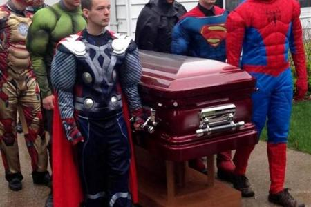 Superhero funeral for 5-year-old boy who died from brain tumour