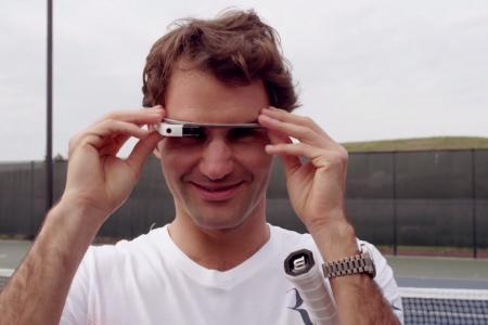 Roger Federer through Google Glass