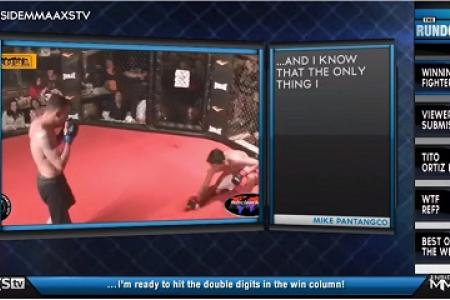 Amateur MMA fighter taps himself out to avoid hurting his opponent