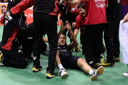Japan win Maiden Thomas Cup
