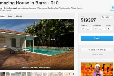 Which Brazilian superstar is renting out his home for the World Cup?