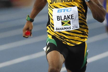 Blake anchors Jamaica to world record