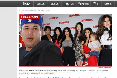 Rob Kardashian skips his sister's wedding