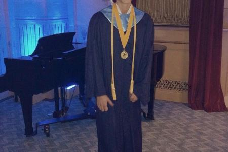 Cody Simpson graduates top of his class