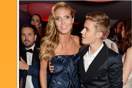 Klum defends Bieber after 'boob touch' accusation