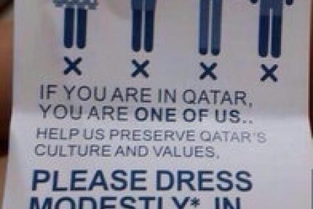 No mini skirts, no sleveless dresses during 2022 Qatar World Cup
