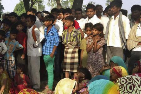 Two girls gang-raped and hung from tree in India