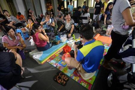 Row as parents queue for childcare places