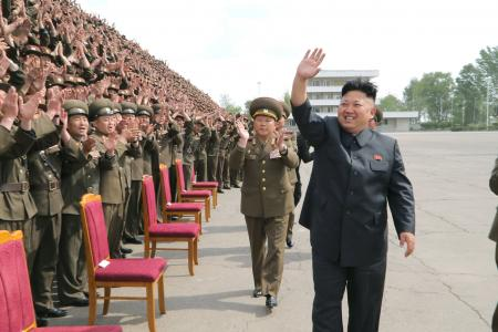 What is Kim Jong-Un so happy about?