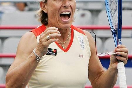 Navratilova coming to Singapore