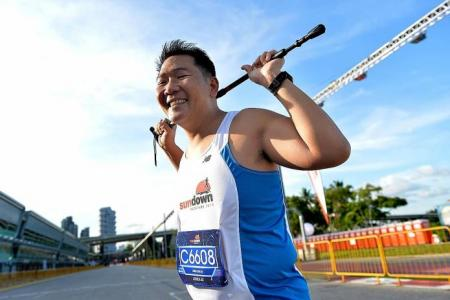 Cyclist who survived 2011 accident completes Sundown Marathon