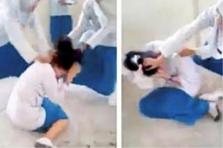 Video of schoolgirls attacking fellow student goes viral