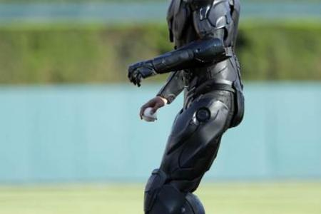 Better than 50Cent! RoboCop's first pitch plus three of the best