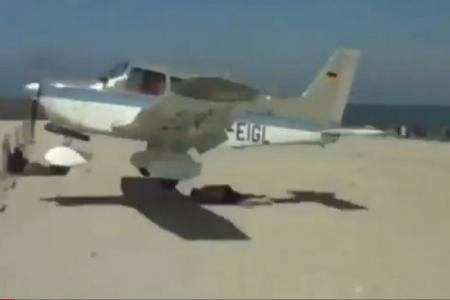 Watch: Plane nearly lands on sunbather on German beach