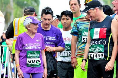 Woman, 91, breaks record after completing marathon