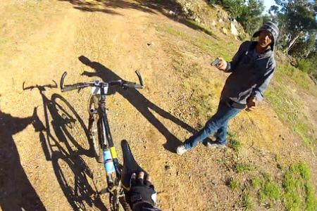 Mounted camera helps mountain biker catch his robbers