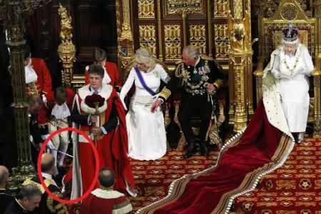 Page boy faints during Queen's speech