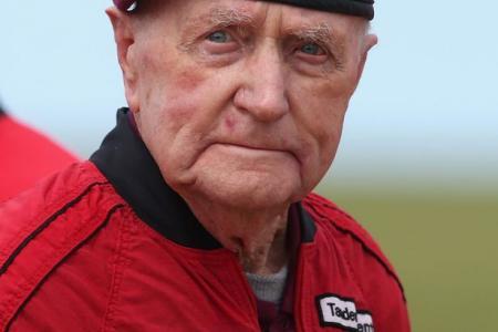 Life gets boring, says 89-year-old parachutist