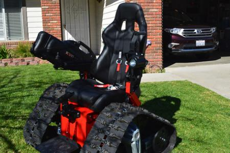 Check out this wheelchair that's like a tank