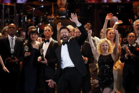 Wolverine dons tap shoes for Tony Awards