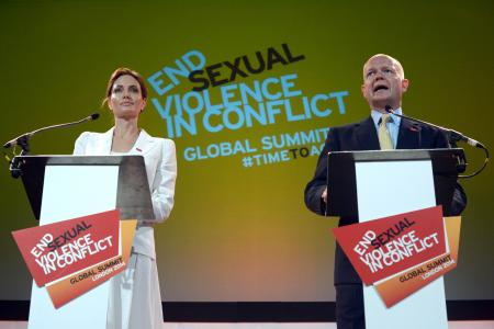 Angelina Jolie vows action against sexual violence in war