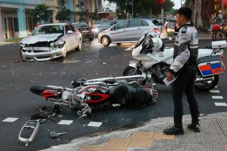 Harley rider loses leg in horror crash