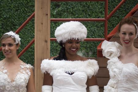 Winner crowned in 10th annual toilet paper wedding dress contest