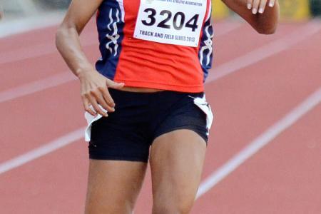 Shanti misses new 100m national record