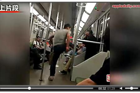 Man beats up beggar on train