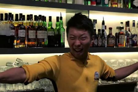 Mixing with the punches! This Bruce Lee bartender will floor you with awe