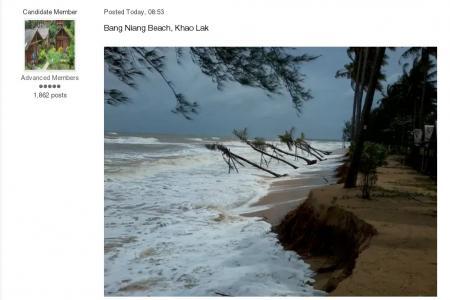 Freak waves batter south-west Thailand