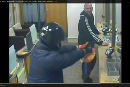 Angry man foiled fake gun-wielding robber