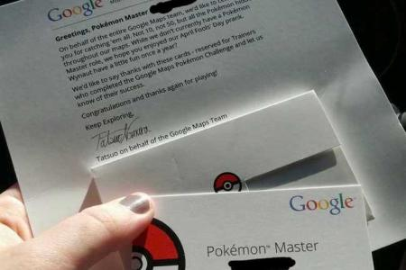 Did you catch them all? Google gives out Pokemon Master name cards
