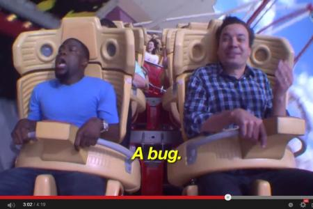 Kevin Hart faces his fear of roller coasters