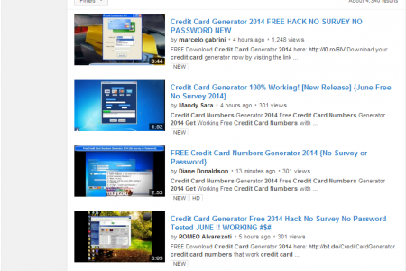Hackers seen using YouTube to sell stolen credit cards