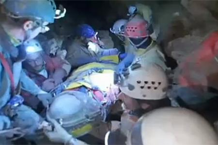 German trapped in 1,000m deep cave for 11 days rescued