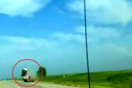 Video: Crash sends car flying through the air