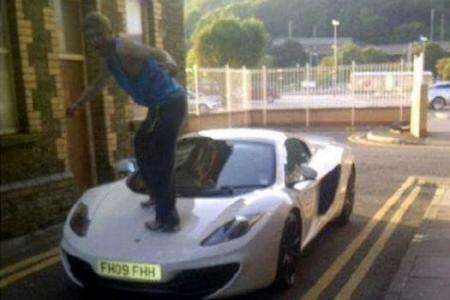 Man jumps on bonnet of sports car, infuriates owner