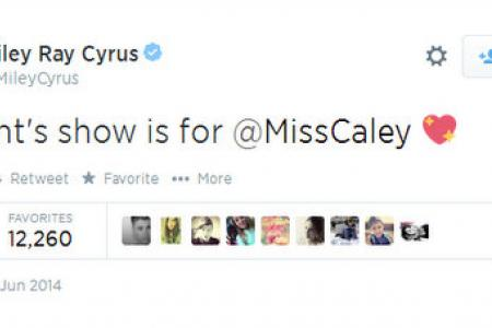 Miley Cyrus' tribute to young dying fan