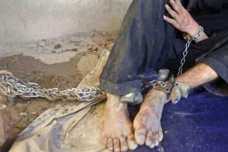 Down syndrome teen chained 24hrs a day