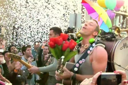 Coldplay hits Sydney streets for new music video